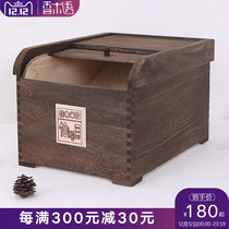 Fragrant wood in rice barrel storage Mi Solid wood household small 10KG moisture-proof anti-insect tung wood sealed rice cylinder 20 Jin