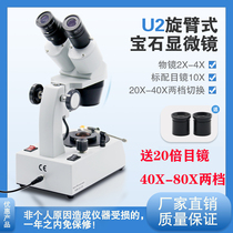 FABLE Magic FGM-U2-19 Jewelry Determination Instrument Magnifier Colored Gemstone Microscope 20-40-80 times