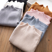 Foreign gas ~ Girl hundred sweater Baby Knitwear children threaded Korean version of the bottom shirt 2018 autumn and winter new tide