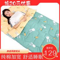 Хлопок взрослый анти-холодный спальный мешок зимой утолщение общежития студентов одного одеяла хлопок дети дремота анти-удар одеяло