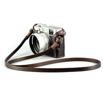 BHW France 8mm Handmade camera back lead layer cowhide retro micro single rope leather shoulder strap SLR Rope