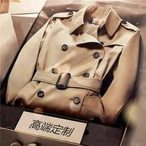 Big-name high-end khaki windbreaker coat female spring and autumn long British style temperament 2021 new little man