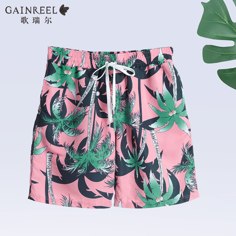 Ge Ruier fashion printing comfortable swimming shorts seaside leisure vacation young men's beach pants PMS20003