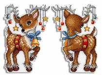 Вышивка крестом повторный рисунок исходный файл холодильник наклейки-двусторонняя вышивка-олень