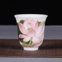 Night Market Mao Xi Memorial Hall with porcelain creator Yuan Shufan pure hand-painted hand-held cup of tea.