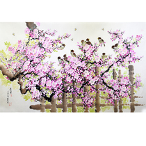 Korean flower Chinese painting 1 2 meters gold and Jade spring sunshine living room decoration painting ax440
