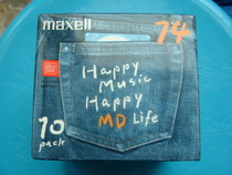 Super Cool New Rare Maxell Denim MD Disk (sony related md2000)