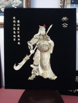 Heche handmade fish skin painting fish leather crafts fish skin decorative painting hanging painting guan public relations Emperor Cloud long