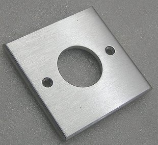 Aluminum alloy wall-mounted power socket panel 6 PCT thick Suitable for an American standard imported socket core type 86