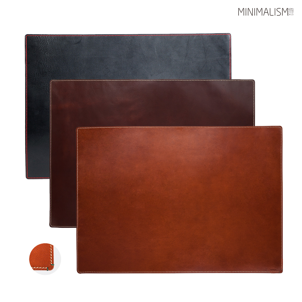 MINIMALISM minimalist leather cowhide protector mouse table mat rectangular ML9C011