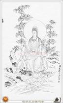 Cheng Zong yuan white outline Guanyin electronic painting Guanyin picture white sketch draft electronic line draft picture 22 package