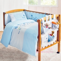 Love baby home-spun cotton baby bedding set of seven live quilt pillow case specials