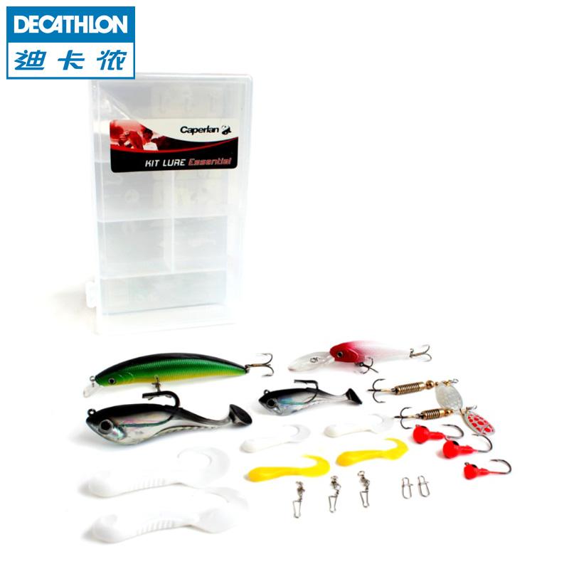 [The goods stop production and no stock]Decathlon Lure bait Set Rotating sequins Curly-tailed rod Hard bait Soft bait Fishing bait CAPERLAN
