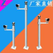 Monitor pole 1 5 M 2 M outdoor camera license plate security Island Column 1 m pole