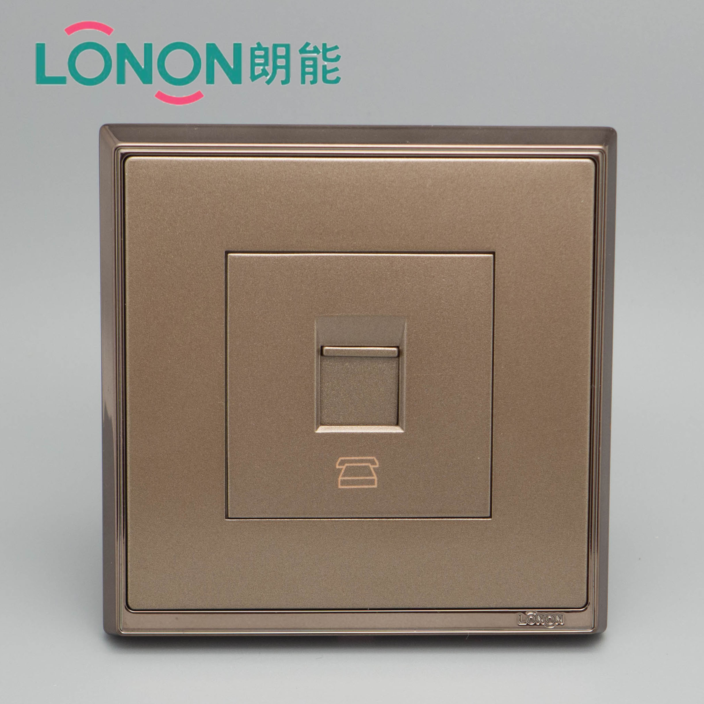 Langneng Electrical S7 Electroplated Rose Gold Steel Frame Series Telephone Wall Switch Panel