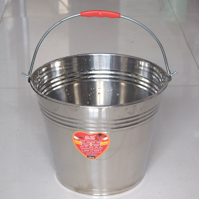 304 non-magnetic stainless steel non-magnetic bucket thickened 12 liters bucket extra thick 16 liters rust-proof bucket kitchen bucket