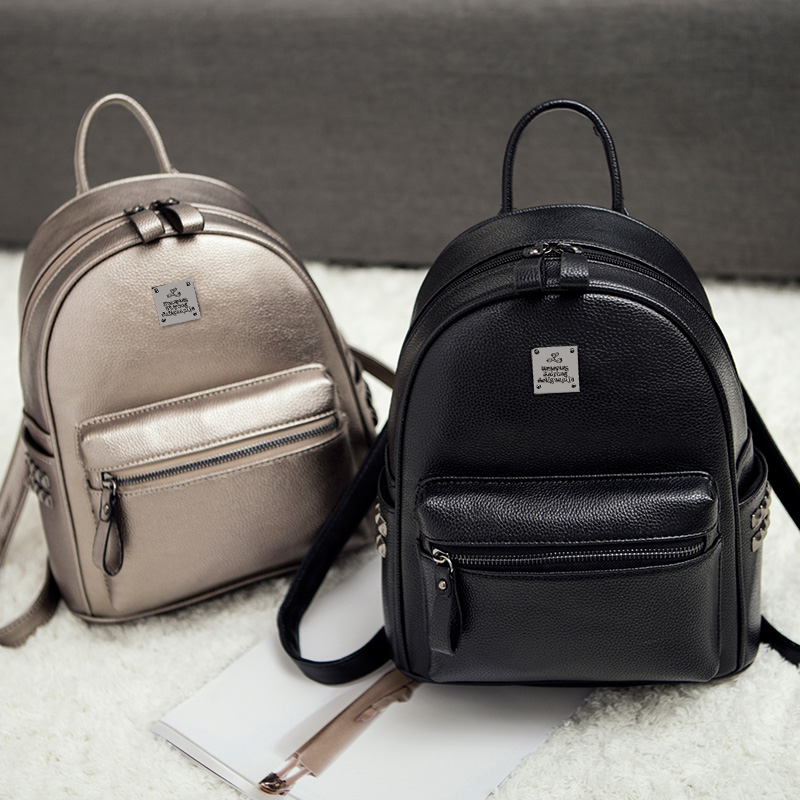 Backpack female Korean version 2018 new bag fashion wild mini soft leather ladies bag backpack tide female bag