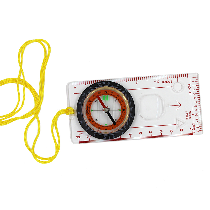 Outdoor camping tools, multi-function map compass, orienteering, hiking sports compass