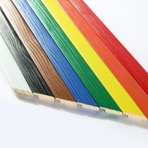 Wooden line colored wooden line border wrapping edge