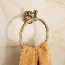 Empress Family Antique Bronze European idyllic style all copper antique towel ring retro towel rack GY902