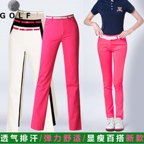 Golf Panties Pants Womens clothing spring and summer thin cotton breathable elastic 9-point pants straight pants nine points pants