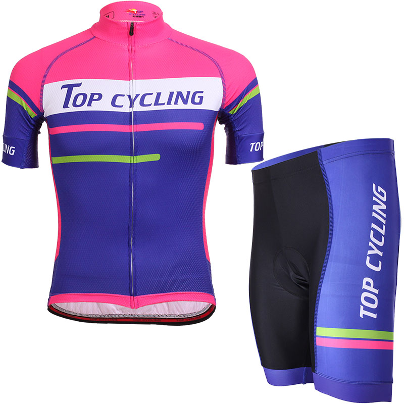 TOPCYCLING Topic Summer Bicycle Raw Yarn Short Sleeve Bike Suit for Men and Women