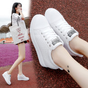 2017 new autumn and winter all-match Korean white shoes increased white shoe female thick soled street shoes casual shoes