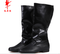 Authentic red dance shoes 1036 Tibetan dance boots mens dance boots Tibetan dance horse boots mens dance boots