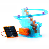 Solar toy technology small production assembling space track ball children creative Science Environmental Protection Electrical Small Experiment