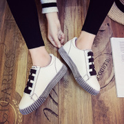 Women in the spring of 2017 new students. A all-match summer white shoe Velcro shoes sports shoes