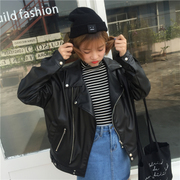 2017 new short spring dress Korean motorcycle jacket loose Pu casual jacket leather leather coat students tide