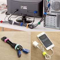 Magic stickers with cable ties with 6-pack Winder computer cable management power cord storage device wire finishing