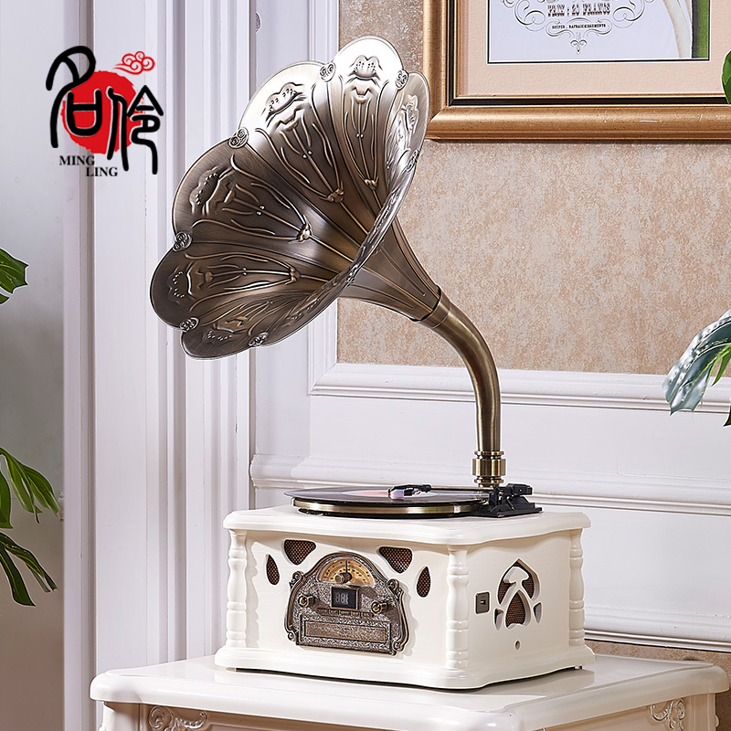 Ming Ling 106 retro loudspeaker gramophone MP3 radio Bluetooth national package post and telecommunication black film record player