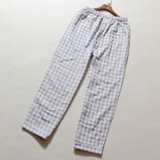 The Japanese men's pants, the spring and autumn trade cotton gauze loose and casual plaid pants pants size Home Furnishing