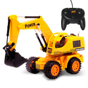 Car remote control electric engineering vehicle remote control model of excavator excavator digging machine hook machine remote control toy car for children