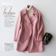 Baou 2016 new autumn and winter double it pure wool coat and slim long sleeved long wool woolen coat