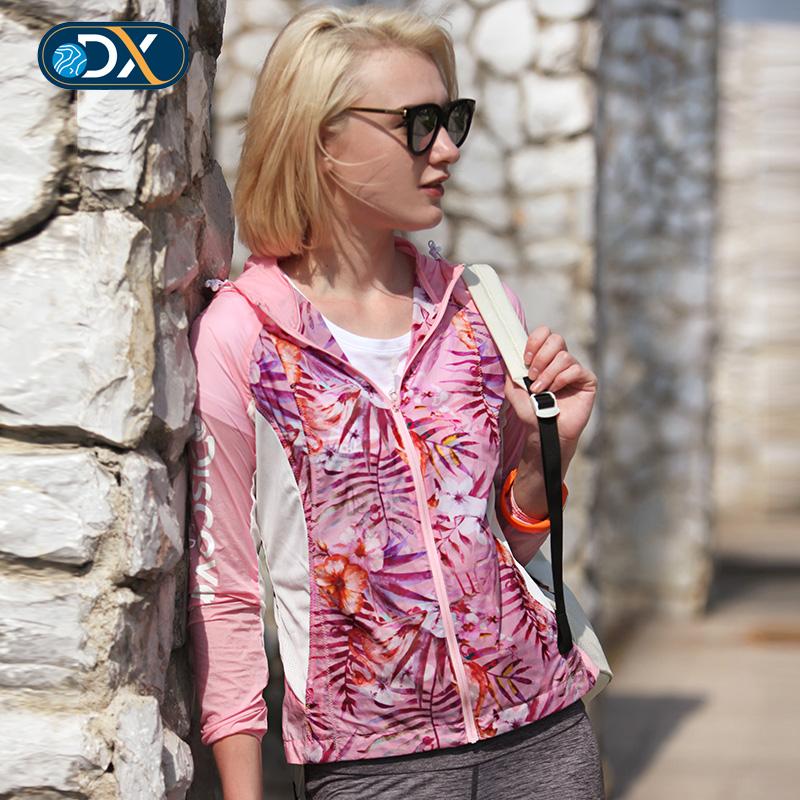 Discovery's new light breathable skin outdoor summer Flamingo printed thin jacket