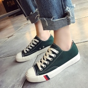 In the spring of 2017 new female canvas shoes all-match Korean white shoe Street Harajuku ulzzang student cloth shoes