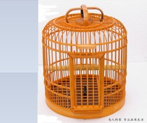 Multi-provincial birdcage bamboo 31CM Send 10 kinds of complete accessories old Nan Bamboo homemade thrush birdcage octopus cage Students