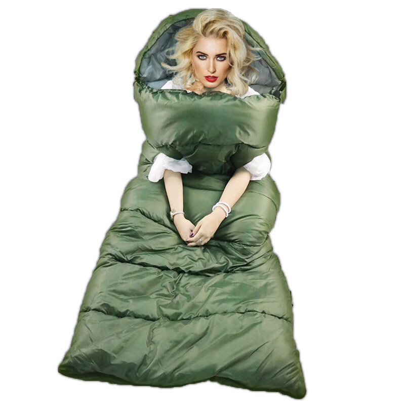 Yueying Hawk Thickening Outdoor Travel Sleeping Bag in Winter Adults reach out to keep warm single-person indoor camping Yueying Hawk