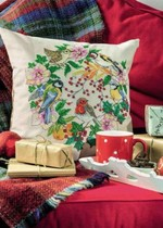 Cross stitch drawings redraw the source file bird Garland pillow