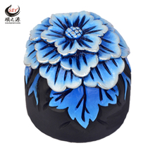 Activated carbon carving high-grade hibiscus car decoration safety car inside jewelry car pendulum jewelry carbon carving supplies car decoration