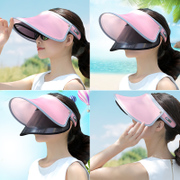 The summer sun hat hat female Korean women riding hat face UV sunscreen all-match along sun hat