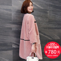 Hannah Haining wool coat Korean Sheep Sheepskin fur coat Ms. Long section was thin 2016 new autumn and winter