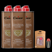 Authentic leader CHIEF kerosene lighter oil universal quality fragrance smell fuel economy 133ml