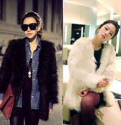 [] simulation fur short cardigan sold