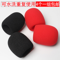 Boyin thickened non-disposable thickened sponge sleeve windproof mi cover KTV microphone blowout hood Microphone cover microphone set anti-spray cotton wheat sleeve Jacket anti-spray net windshield cover sponge