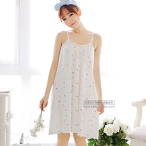 Summer girl cute Korean dress gown summer fresh and sweet and sexy student Princess strap cotton nightdress