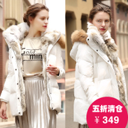 2016 new women's winter jacket, long thick high-end big fur coat for Europe's