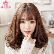South Korea lady wig hair long hair bangs are natural air shave long curly hair pear head